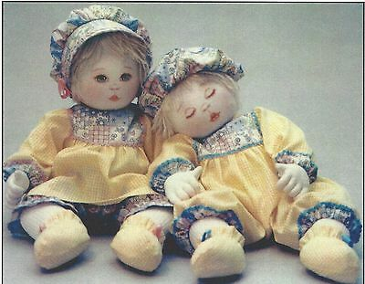 """18""""cloth/soft Sculpture Boy&girl Baby/toddler Art Doll& Clothes&transfer Pattern"""