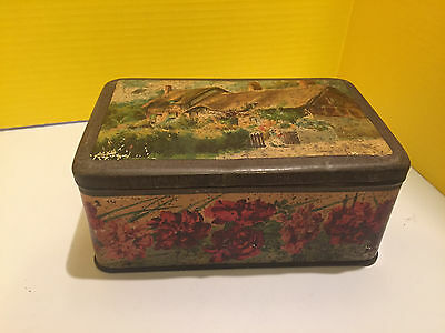 Collectable Rare Vintage Antique Toffee Tin Metal Advertising Country Cottage