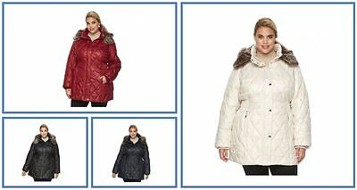 e6c528dcd APT 9 WOMENS Cold Weather Quilted Lightweight Pewter Hooded Puffer ...