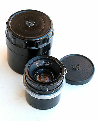 WIDE Contax / Kiev  RF mount lens - EXC++ ●  Jupiter-12  f2.8  35mm Angular