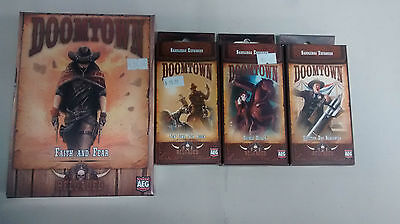 Doomtown reloaded board game expansion lot of 4 by AEG. New.