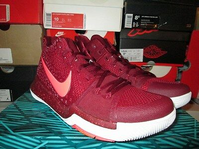 3598e1aec0db SALE NIKE KYRIE Iii 3 Team Red Hot Punch Total Crimson 852395 681 Sz ...