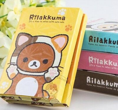 San-X Rilakkuma 12 Different Designs Sticky Notepad In One Foldable Booklet