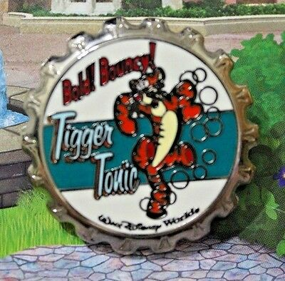 Walt Disney World Soda Pop Bottle Cap Series Pin Tigger Tonic HTF PinPics 20328