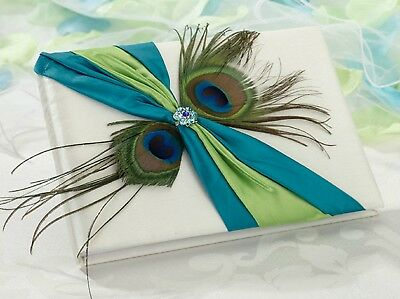 Wedding Guest Book Peacock Feather Reception Decorations Signing Album