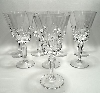 4 + 4 Free Cambridge by Mikasa Water Goblet Wine Glass Cut Crystal Stems #91143
