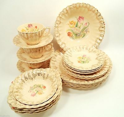 EASTERWOOD IN-5300-X by Sebring Trojan 27 Pc Filler Set Plates Bowls Cups Saucer