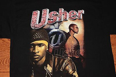 "L * Vintage Usher Rap Tee ""U Got It Bad"" Tour Shirt Hiphop 00s VTG"