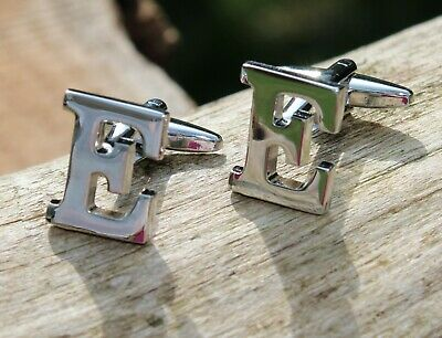 Men's Initial Letter E Cufflinks and Gift Box ~ Mens Novelty Formal Accessory