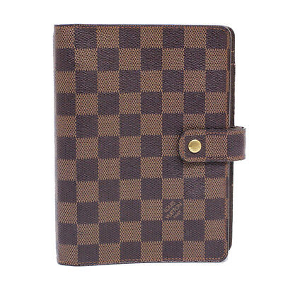 Auth Louis Vuitton Damier Agenda MM Day Planner Cover R20240 LV [0511]