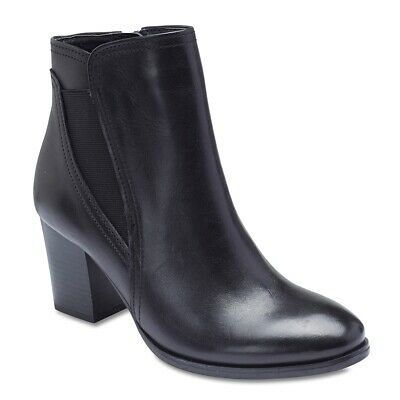 NEW Sandler Eagle Black Leather Ankle Boots Womens Shoes