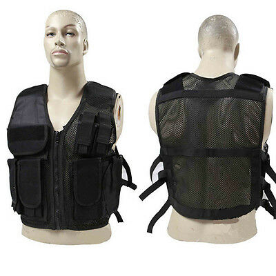 Tactical Military Training Combat Vest Outdoor Sports Adjustable Mesh Breathable