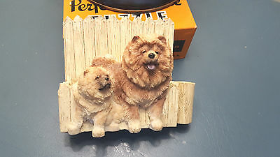 Chow Chow Dog Refrigerator Note Pad And Pen Holder Magnetic
