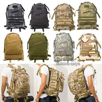 55L Outdoor Military Molle Tactical Backpack Rucksack Travel Hiking Camping Bag