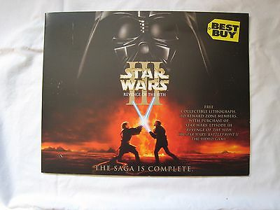 Star Wars Iii Revenge Of The Sith Lithograph Print Best Buy Promo 2005