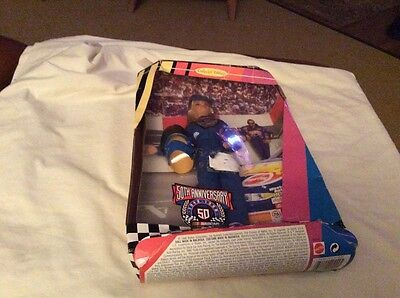 Matel Barbie 50 Years NASCAR  Box  not in Good  Condition