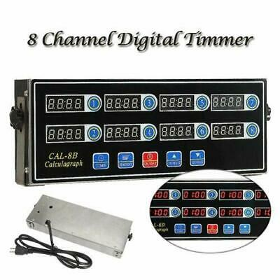 8 Channel Digital Timer Kitchen Burger Cooking Calculagraph Count-Down Up Clock