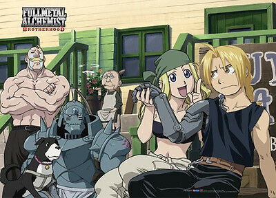 *NEW* Fullmetal Alchemist Brotherhood: Group at Rockbell's Shop Long Wall Scroll