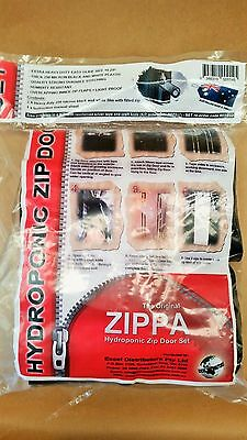 Hydroponics Zip Door Set / Set of 2 / Zippa / Grow Room Zips