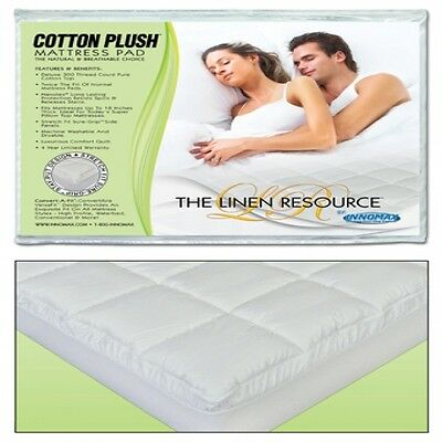 California King Cotton Plush Quilted Waterbed Mattress Pad