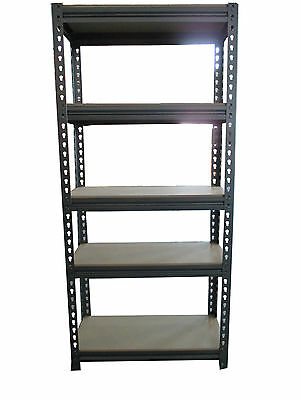 5 Tier Heavy Steel Racking Duty Boltless Storage Shelves Garage Shelving New