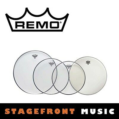 "Remo Clear Drum Head Pack Emperor Pro Rock Skins 12"", 13"", 16"" + 14"" Pp-0250-Be"