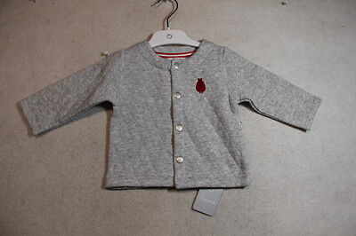 Baby Boy Size 00,0 Precious Plum Winter Grey Quilted Jacket NWT