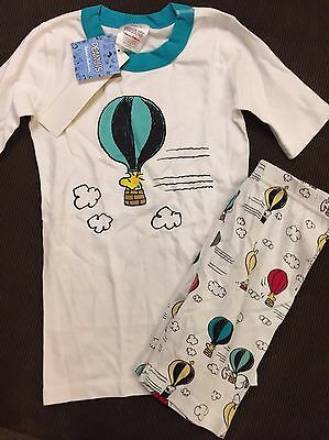Nwt Hanna Andersson Organic Cotton Peanuts Hot Air Balloon Short Johns 140 10