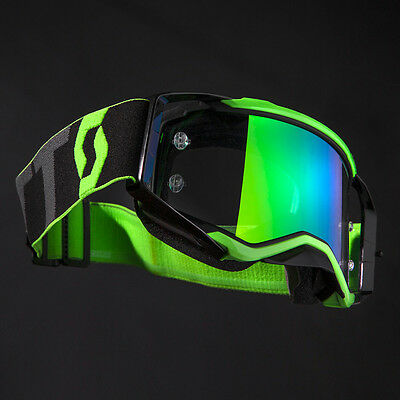 New SCOTT PROSPECT MX OFF ROAD GOGGLES BLACK/FLURO GREEN Motorcycle
