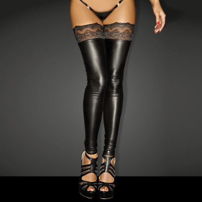 Powerwetlook SUPERSTAR Stockings with Siliconed Lace