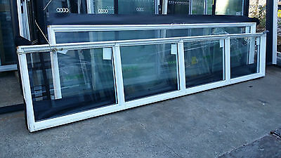Window - 750h x 4000 White Fixed Window w/ Clear Glass