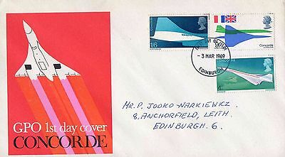 Great Britain - First Flight of Concorde - First Day Cover 1969