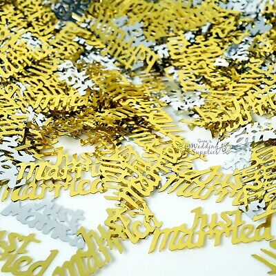 Just Married Table Scatters 25g Gold Silver Foil Confetti Wedding Decoration