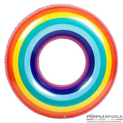 NEW SUNNYLIFE INFLATABLE POOL RING RAINBOW Blowup Floatie Beach Swimming Toy