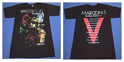 Maroon 5 Tour 2015 Mens Black T Shirt Size S Small