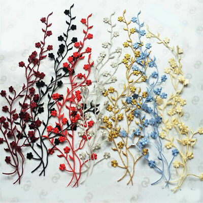 Floral lace Applique Decorative Sewing Motifs Embroidery Trimming Handmade Craft