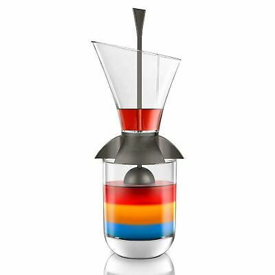 NEW FINAL TOUCH RAINBOW COCKTAIL LAYERING TOOL Slow Pour Layers Gadget Tool