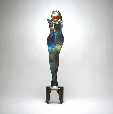 "Unique GENUINE MURANO Glass  ""LOVERS"" Sculpture Signed by Artist"