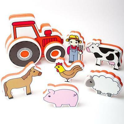 Bath Time Tractor Build and Play Bath Toys Bath Stickers Meadow Kids From NSW