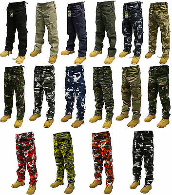 "Army Cargo Camo Combat Military Trousers/pants 28""-50"" Waist 32""  Leg"