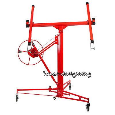 11FT Professional Mobile Drywall Lifter Hoist Plasterboard Dry Wall Panel Board