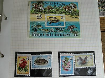 stamps mint antigua barbuda never hinged Cen. of Death - Charles Darwin