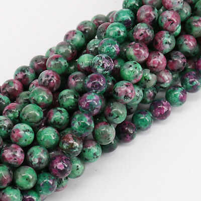 New Lots 15'' Natural Ruby Zoisite Gemstone Stone Spacer Loose Beads 4/6/8/10MM