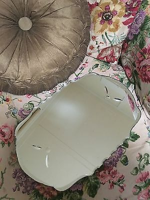 Vintage Pie Crust Venetian Glass Mirror Plateau Display Stand