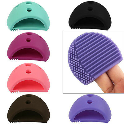 Silicone Makeup Brush Cleaning Mat Scrubber Board Cosmetic Cleaner Washing Pad