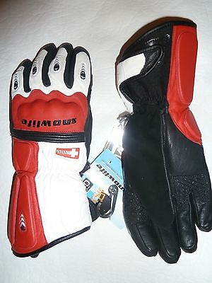 Gants De Ski Alpin Junior Snowlife World Cup Sl 100% Cuir Phalanges Renforces Xl