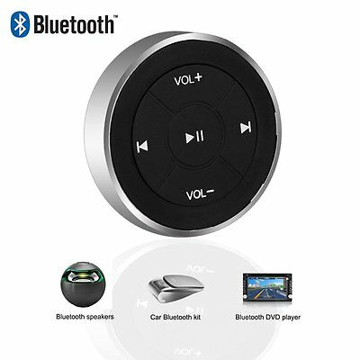 Wireless Bluetooth Music Car Kit Steering Wheel Media Button Remote Controller