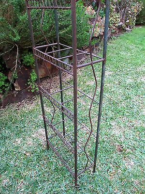 Rustic metal plant stand