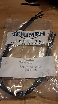 Genuine New Triumph Sprint ST 1050 High Bar Throttle Cables T2040497