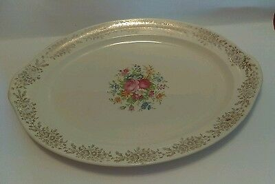Vintage TAYLOR SMITH TAYLOR China Serving Dish Plate Roses Floral